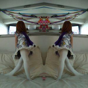 sukieneczka falbany wzór