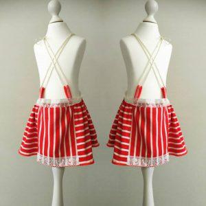 czerwone pasy spódniczka