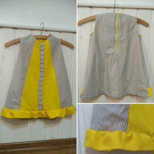 sukieneczka zółta pasy